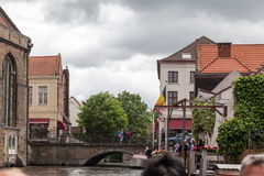 Bruges Canal Belgium Stock Image