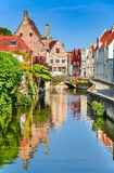 Bruges canal, Belgium Royalty Free Stock Photos