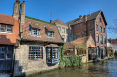 Bruges canal, Belgium Stock Images