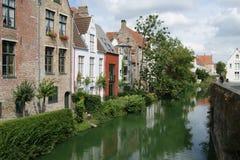 Bruges. Canal in center of Bruges stock images