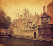 Bruges' canal Stock Photography