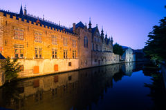 Bruges Canal by night Stock Image