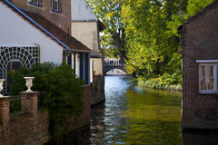 Bruges Canal. Photograph of canal in Bruges, West Flanders, Belgium Stock Image