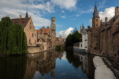 Bruges canal scenic Stock Image