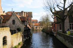 Bruges canal Stock Photo