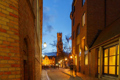 Bruges Canal vert photo stock