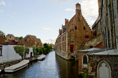 Bruges Canal View Royalty Free Stock Images