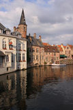 Bruges Canal View Stock Images