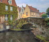 Bruges canals and bridges Royalty Free Stock Photos