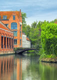Bruges canals and bridges Royalty Free Stock Photography
