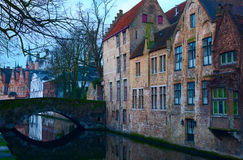 Bruges' canals Royalty Free Stock Images