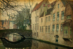 Bruges canals. Royalty Free Stock Photos