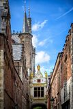 Brugge medieval historic city. Brugge streets and historic center, canals and buildings. Belgium royalty free stock photo