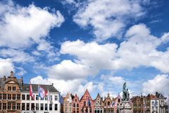 Brugge medieval historic city. Brugge streets and historic center, canals and buildings. Belgium royalty free stock image