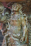 Bruges - The carved statue st. Mary of Magdalen on the pulpit in st. Jocobs church (Jakobskerk) by B. de Lannoy Royalty Free Stock Photos