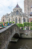 Bruges Cathedral Belgium Stock Photos