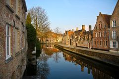 Bruges channel Stock Photos