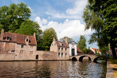 Bruges, channel panoramic view Royalty Free Stock Image