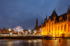 Bruges at Christmas Stock Image