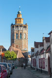 Bruges - Church of Jerusalem from north. Stock Image