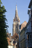 Bruges Church tower Stock Image