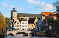 Bruges city in Belgium Royalty Free Stock Photography