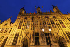 Bruges City Hall on Burg Square Royalty Free Stock Image