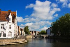 Bruges city river, Brugge Stock Image