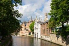 Bruges city river, Brugge Royalty Free Stock Image