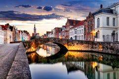 Bruges cityscape, Belgium Stock Photography