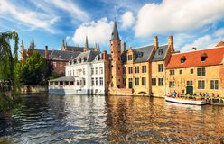 Bruges at day, Belgium historical city stock image