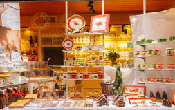 Bruges. Decorated shop window. Royalty Free Stock Image