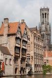 Bruges dzwonnicy Zegarowy wierza Belgia Fotografia Royalty Free