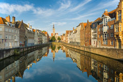 Bruges in the early morning Royalty Free Stock Image