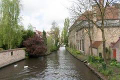 Bruges em uma tarde da mola Fotos de Stock Royalty Free