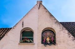 Bruges fönster Arkivfoto