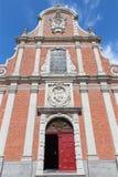 Bruges - a fachada da igreja barroco de Carmelites Foto de Stock Royalty Free