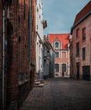 Bruges - Flemish, belga, rua europeia imagem de stock