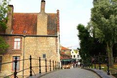 Bruges footbridge Belgium Stock Image