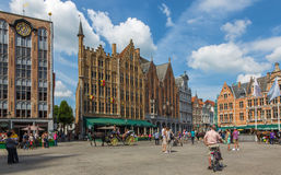 Bruges - The Grote markt square. Stock Photo