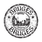 Bruges grunge rubber stamp Royalty Free Stock Photo