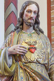 Bruges - The heart of Jesus statue in st. Giles church (Sint Gilliskerk) Stock Image