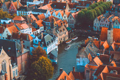 Bruges high view Stock Photography