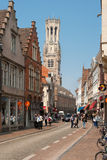 Bruges historic center Royalty Free Stock Photo