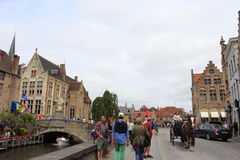 Bruges historic city center Belgium Royalty Free Stock Photography