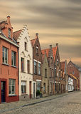 Bruges historical pitched roofs and spiers Stock Photography