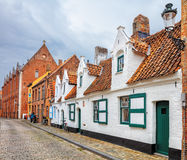 Bruges historical pitched roofs and spiers Stock Photos