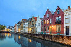 Bruges historical pitched roofs and spiers Stock Image