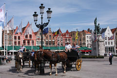 Bruges horses Royalty Free Stock Photography