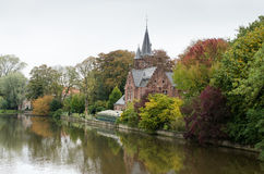 Bruges. Houses along the canals of Brugge or Bruges, Belgium Stock Photography